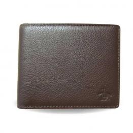 cartera de piel marrón