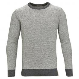 jersey de lana y algodón en gris