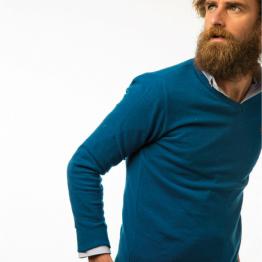 jersey de pico azul petróleo