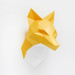 cabeza de zorro origami
