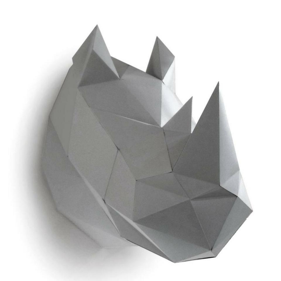rinoceronte de origami