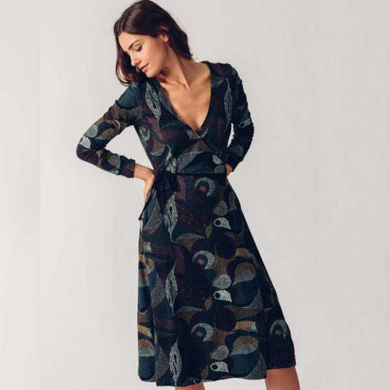 vestido argia gris