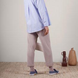 Pantalón de punto tricot y estilo Slouchy
